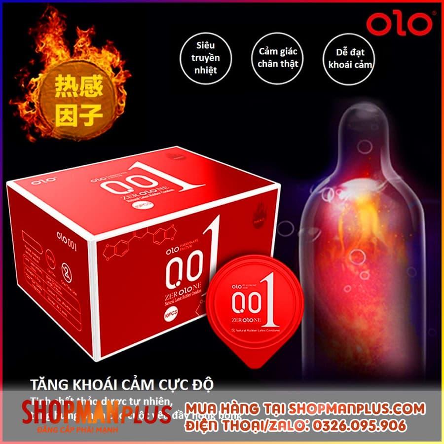 Bao cao su OLO 0.01mm siêu mỏng, chống xuất tinh sớm
