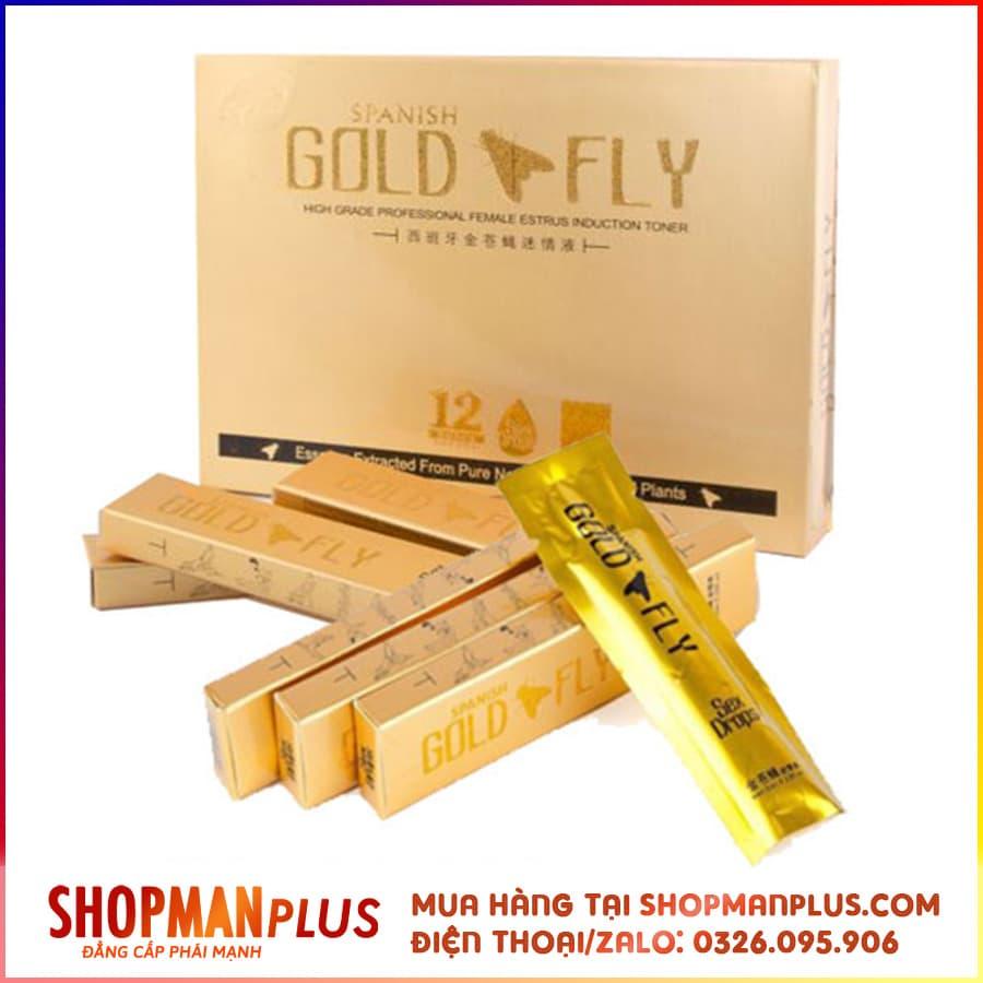 Thuốc Kích Dục Nữ Gold Fly dạng nước cực mạnh - Hộp 12 thanh