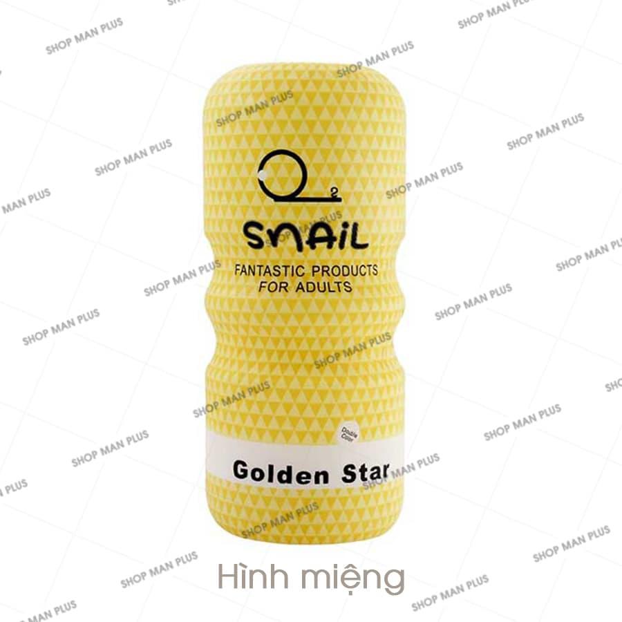 Cốc thủ dâm Snail hình miệng - màu vàng - SNAIL3LV