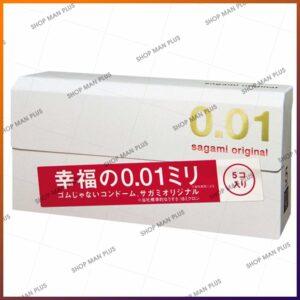 Bao cao su Sagami Original 0.01 - hộp 5 cái - ảnh 1