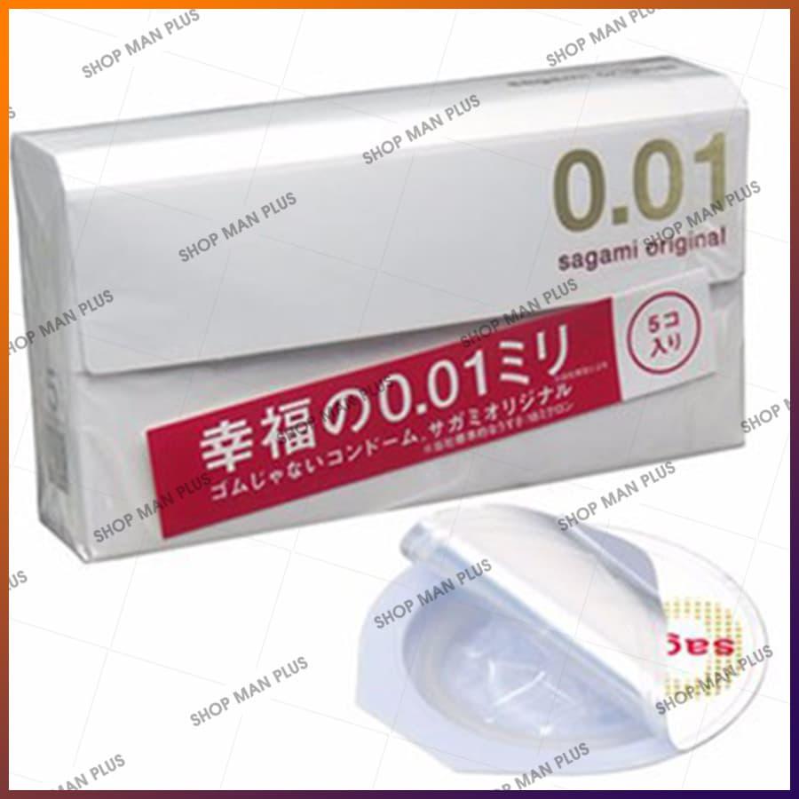 Bao cao su Sagami Original 0.01 - hộp 5 cái - ảnh 2