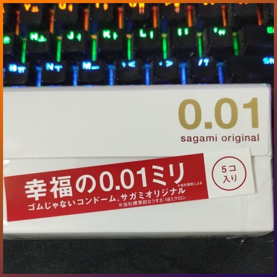 Bao cao su Sagami Original 0.01 - hộp 5 cái - ảnh 4