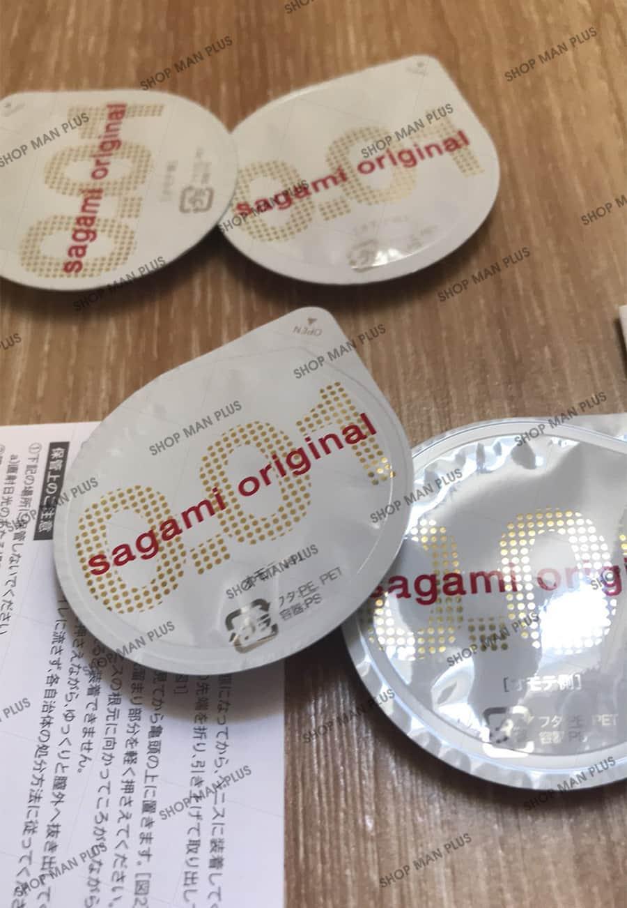 Bao cao su Sagami Original 0.01 - hộp 5 cái - ảnh 5