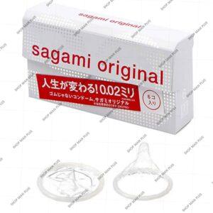 Bao cao su siêu mỏng Sagami Original 0.02 – Hộp 6 cái