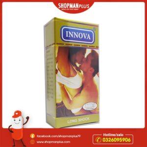 Bao cao su Innova Vàng hộp 12 chiếc, gân gai, chống xuất tinh sớm